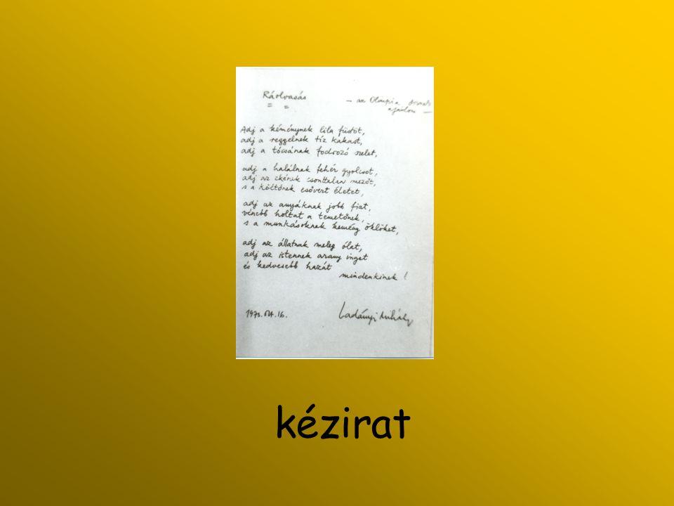 A dévaványai könyvtárosokhoz írt levele