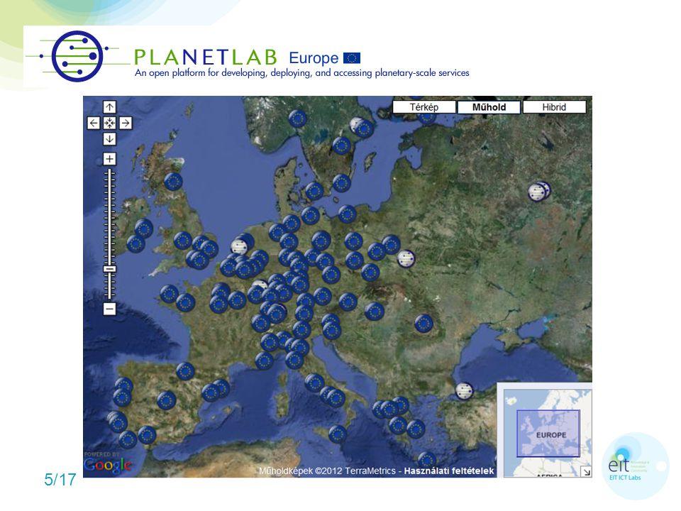 6/17 Globális Planetlab (2002)  1137 csomópont, 544 helyszín