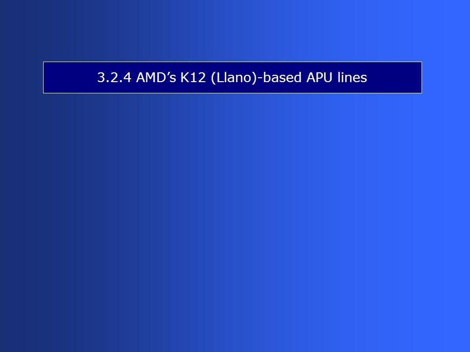 3.2.4 AMD's K12 (Llano)-based APU lines