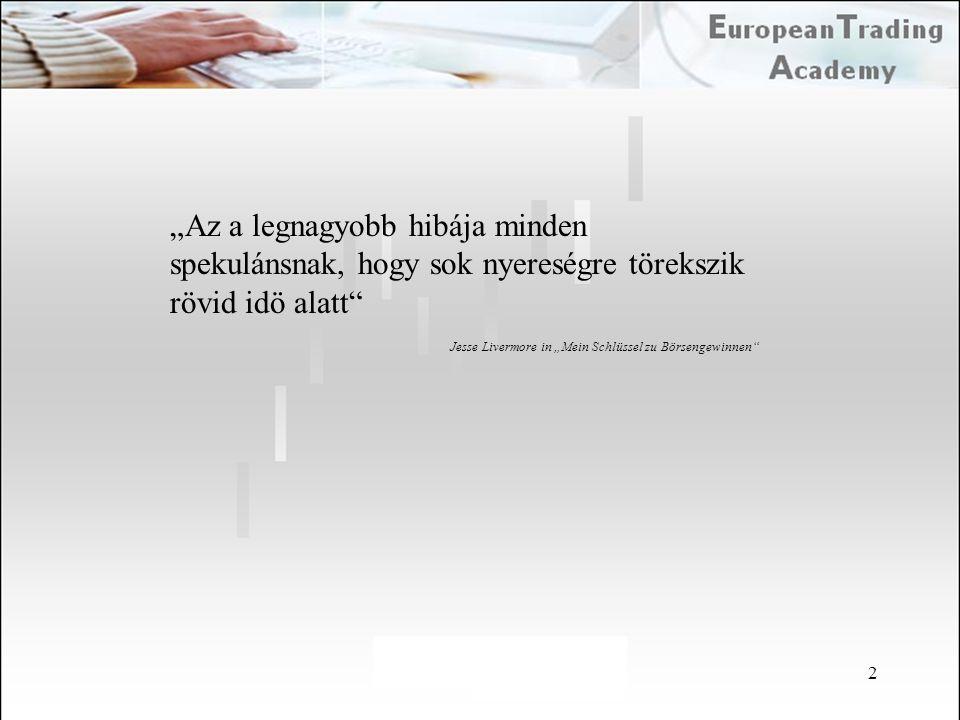 """A """"legyen Ön is milliomos módszer Ha Ön 10.000 eurót 5ször megdupláz, akkor 320.000 eurója lesz Annak a valószínüsége, hogy ez Önnek egy lépésben sikerül sajnos csak 3% A csöd kockázata (a fele vagy kevesebb mint az indulótöke) 50 %."""