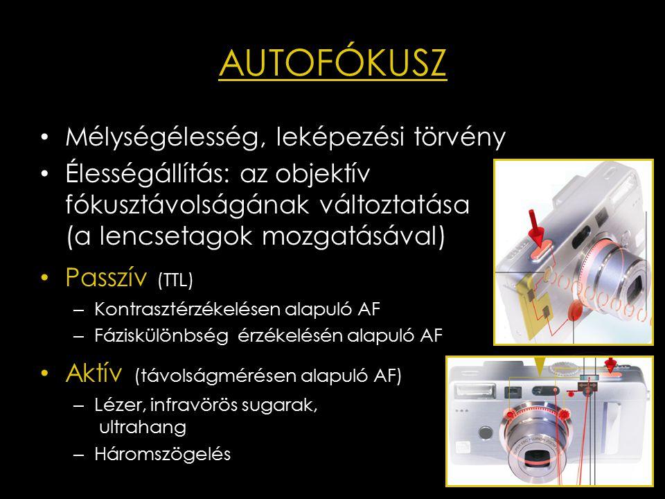 Az élességállító lencsecsoport mozgatása Ultraszonikus motor (USM/SWM ) – Piezoelektromos jelenségen alapszik – Mozgásátalakító (orsó-anya típusú)