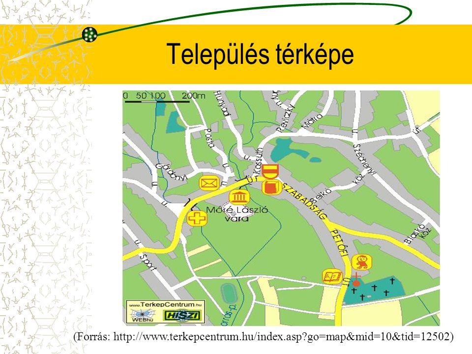 Település térképe (Forrás: http://www.terkepcentrum.hu/index.asp?go=map&mid=10&tid=12502)