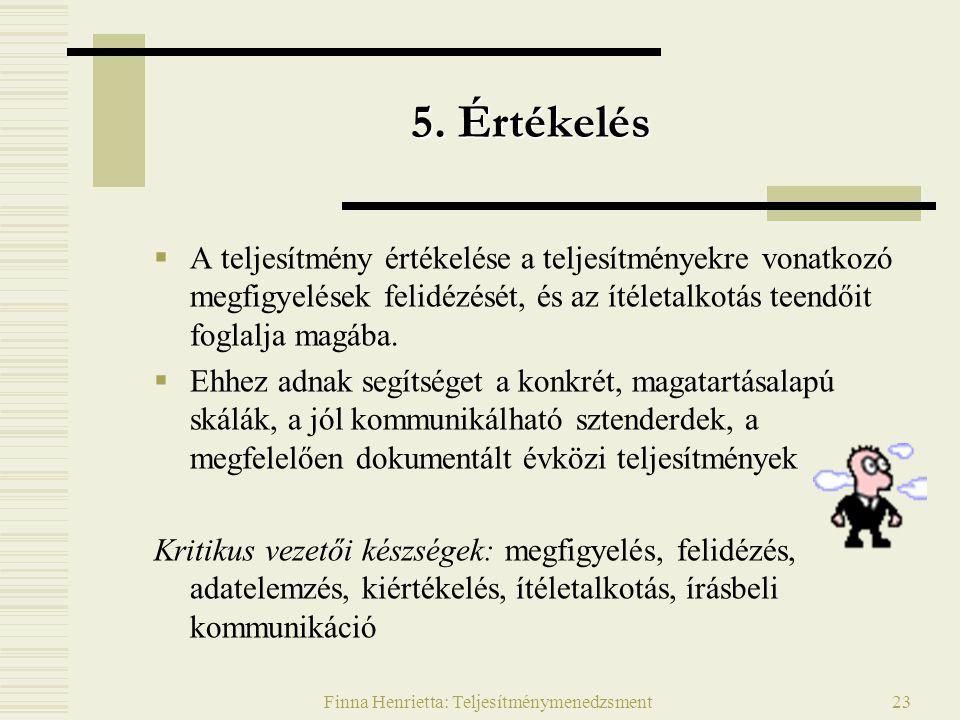 Finna Henrietta: Teljesítménymenedzsment23 5.