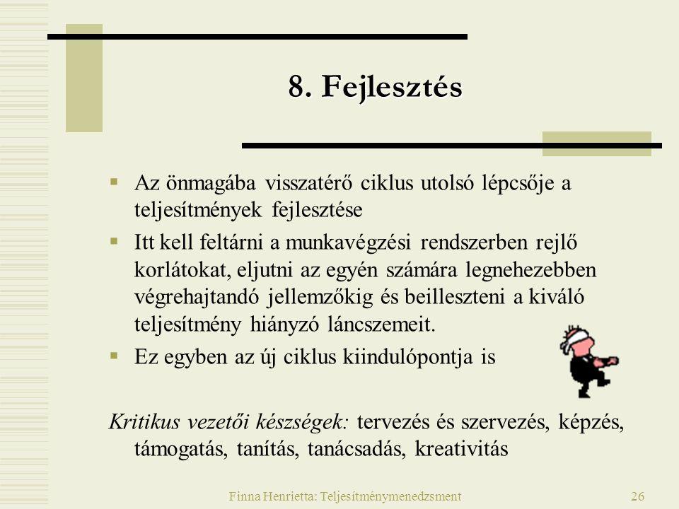 Finna Henrietta: Teljesítménymenedzsment26 8.