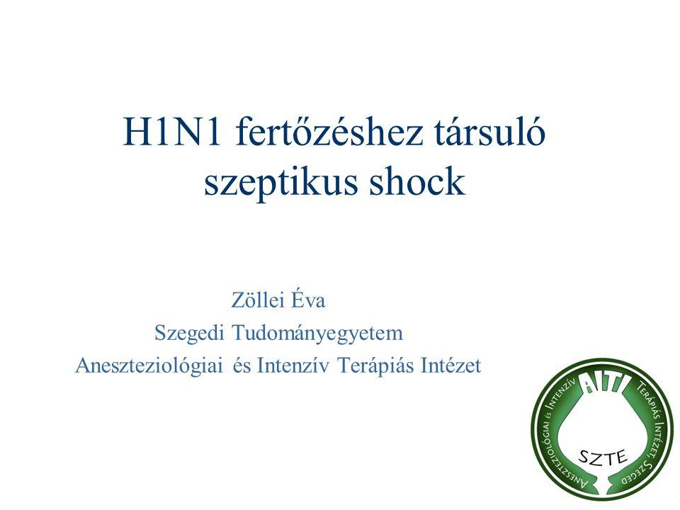 H1N1 fertőzéshez társuló szeptikus shock Zöllei Éva Szegedi Tudományegyetem Aneszteziológiai és Intenzív Terápiás Intézet