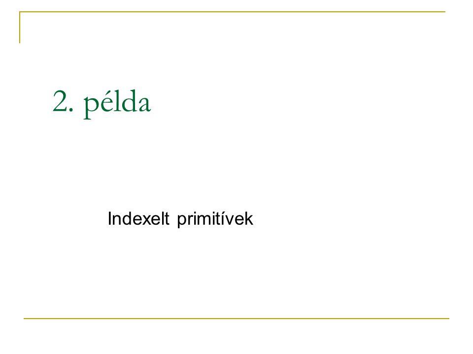 2. példa Indexelt primitívek