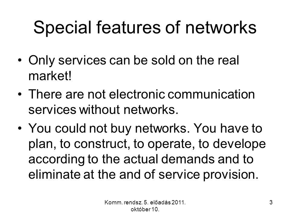 Komm. rendsz. 5. előadás 2011. október 10. 34 Access network implementation