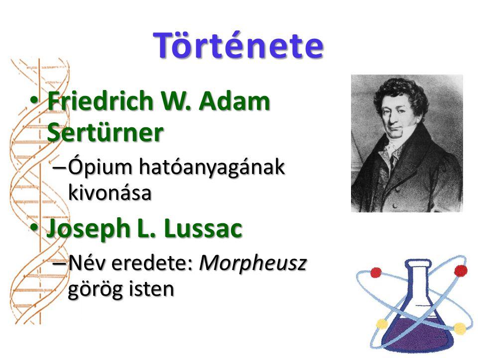 Története Friedrich W.Adam Sertürner Friedrich W.