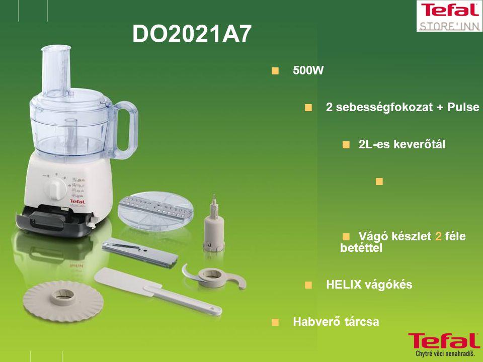 DO2021A7  500W  2 sebességfokozat + Pulse  2L-es keverőtál   Vágó készlet 2 féle betéttel  HELIX vágókés  Habverő tárcsa