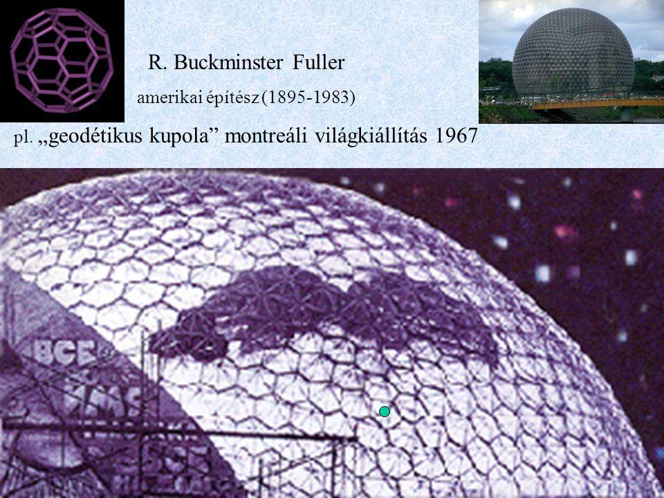 """R. Buckminster Fuller amerikai építész (1895-1983) pl. """"geodétikus kupola"""" montreáli világkiállítás 1967"""