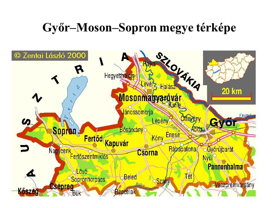 Öntözött területek nagysága Győr-Moson-Sopron megyében (ha)