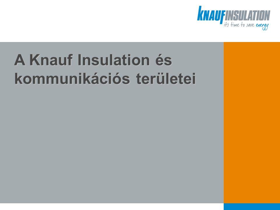 A Knauf Insulation és kommunikációs területei