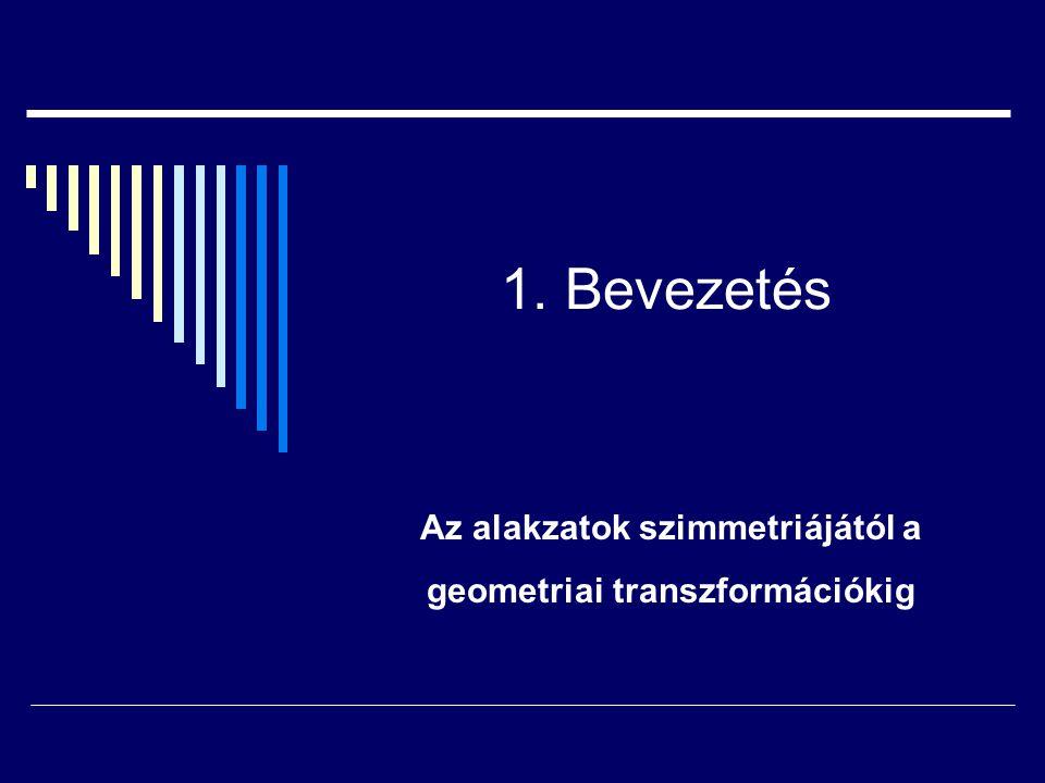 Irodalom 23) Bachmann,F: Aufbau der Geometrie aus dem Spiegelungsbegriff, Springer 1959,1973 24) Ahrens, J: Begründung der absoluten Geometrie des Raumes aus Spiegelungsbegriff, Math.Zeitschrift 71.(1959) 154-185