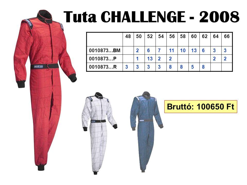 Tuta CHALLENGE - 2008 48505254565860626466 0010873…BM267111013633 0010873…P1132222 0010873…R33338858 Bruttó: 100650 Ft