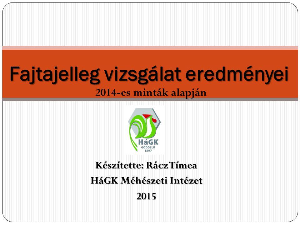 Készítette: Rácz Tímea HáGK Méhészeti Intézet 2015 Fajtajelleg vizsgálat eredményei 2014-es minták alapján