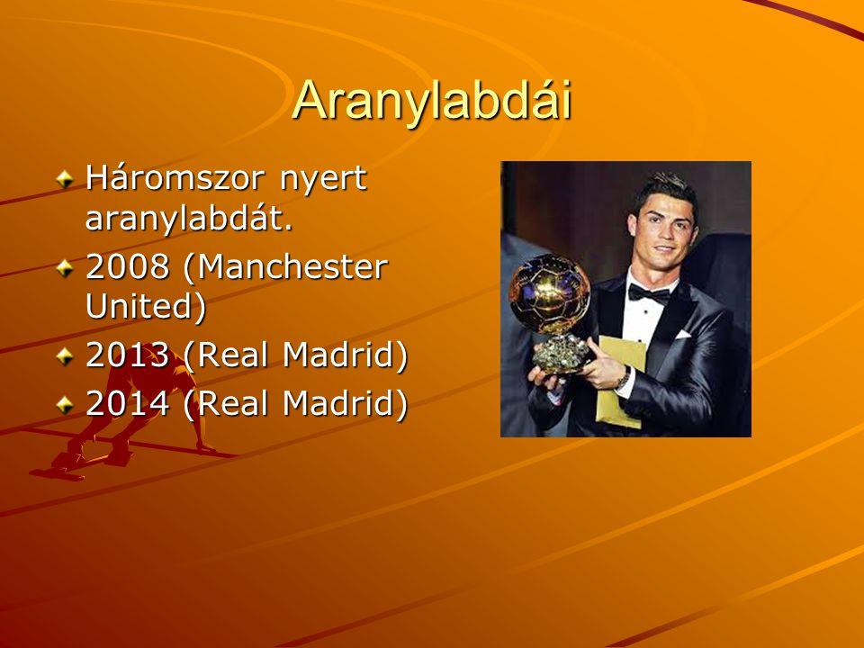 Aranylabdái Háromszor nyert aranylabdát.