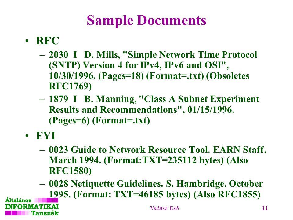 Vadász Ea8 11 Sample Documents RFC –2030 I D. Mills,