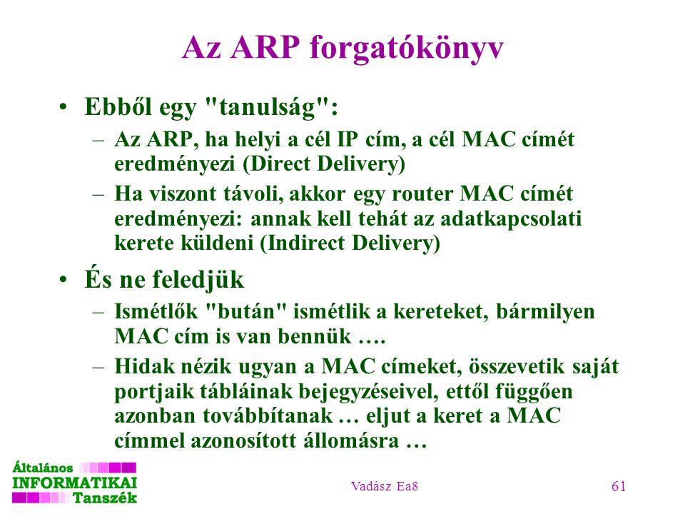 Vadász Ea8 61 Az ARP forgatókönyv Ebből egy