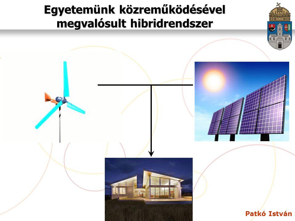 Patkó István Egyetemünk közreműködésével megvalósult hibridrendszer