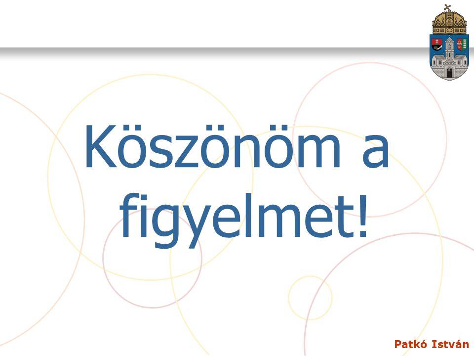 Patkó István Köszönöm a figyelmet!