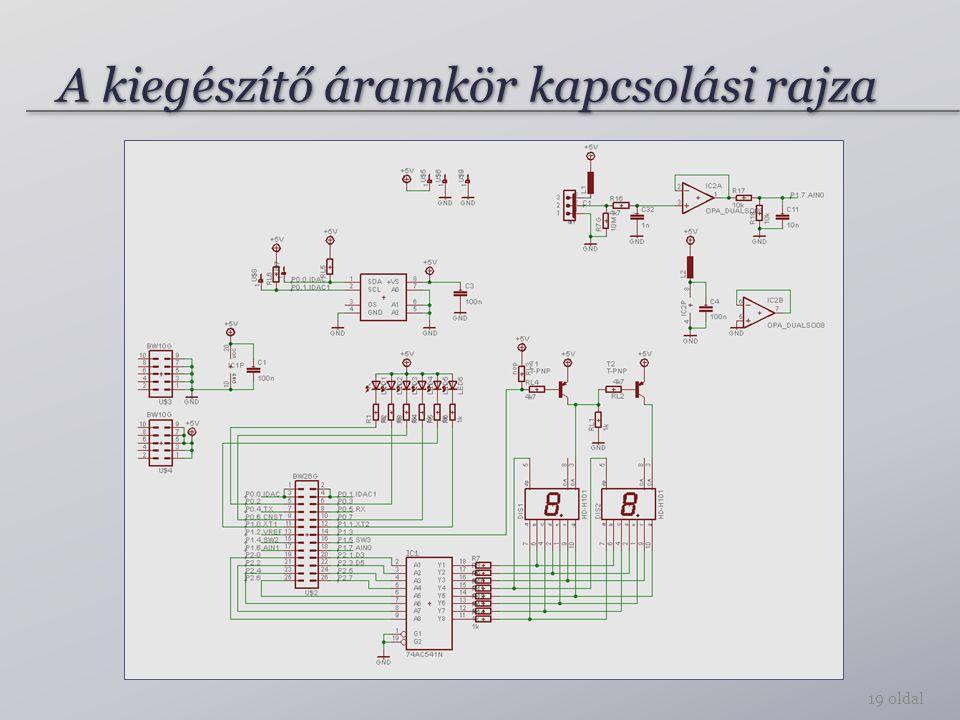 A kiegészítő áramkör kapcsolási rajza 19 oldal