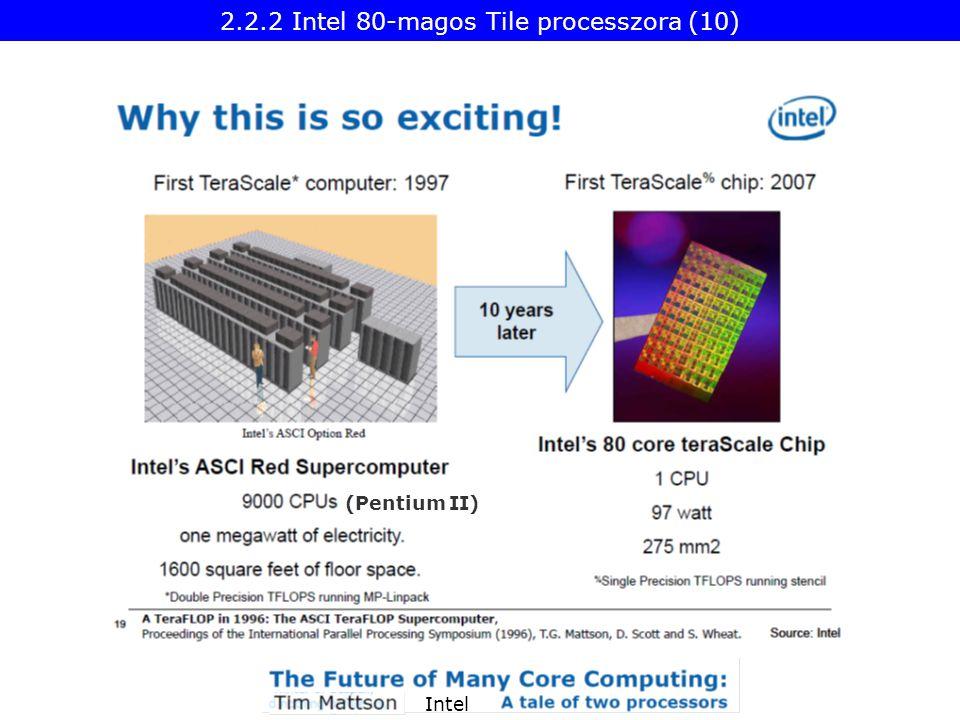 Intel 2.2.2 Intel 80-magos Tile processzora (10) (Pentium II)
