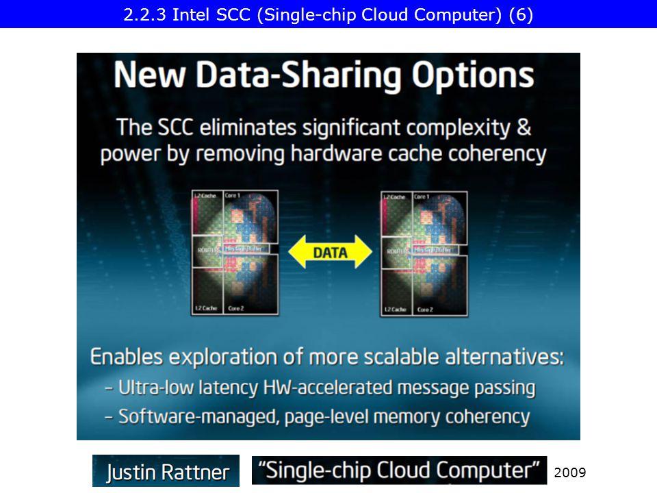 2009 2.2.3 Intel SCC (Single-chip Cloud Computer) (6)