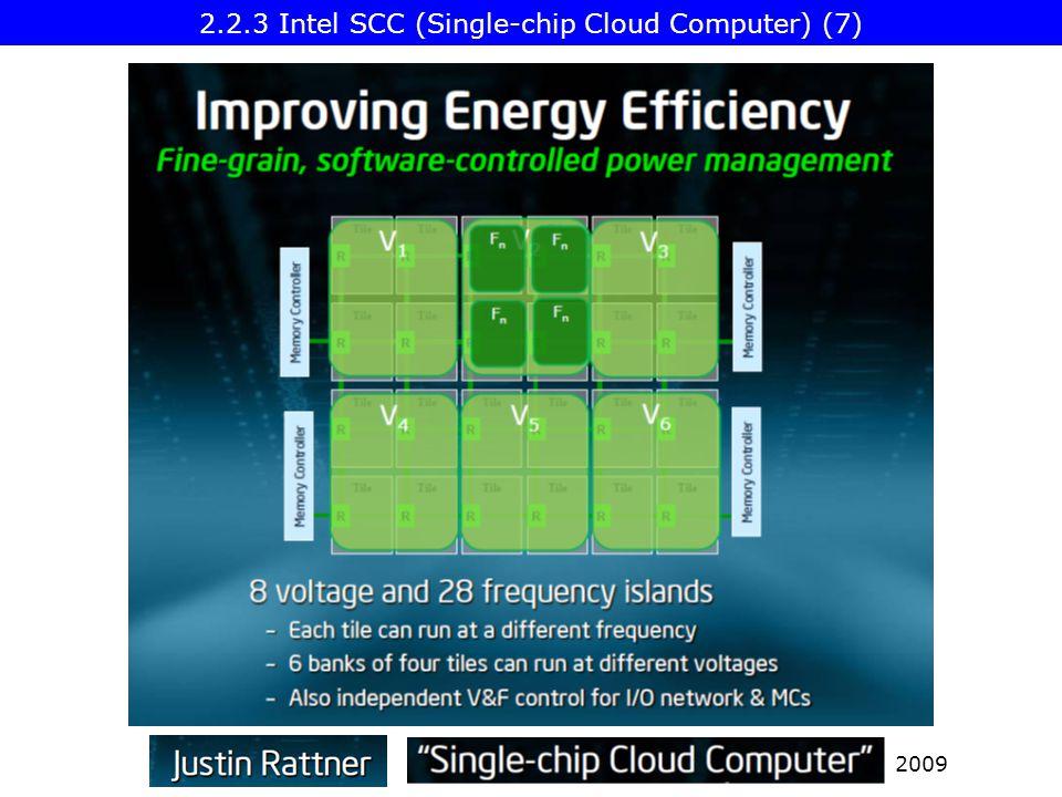 2009 2.2.3 Intel SCC (Single-chip Cloud Computer) (7)