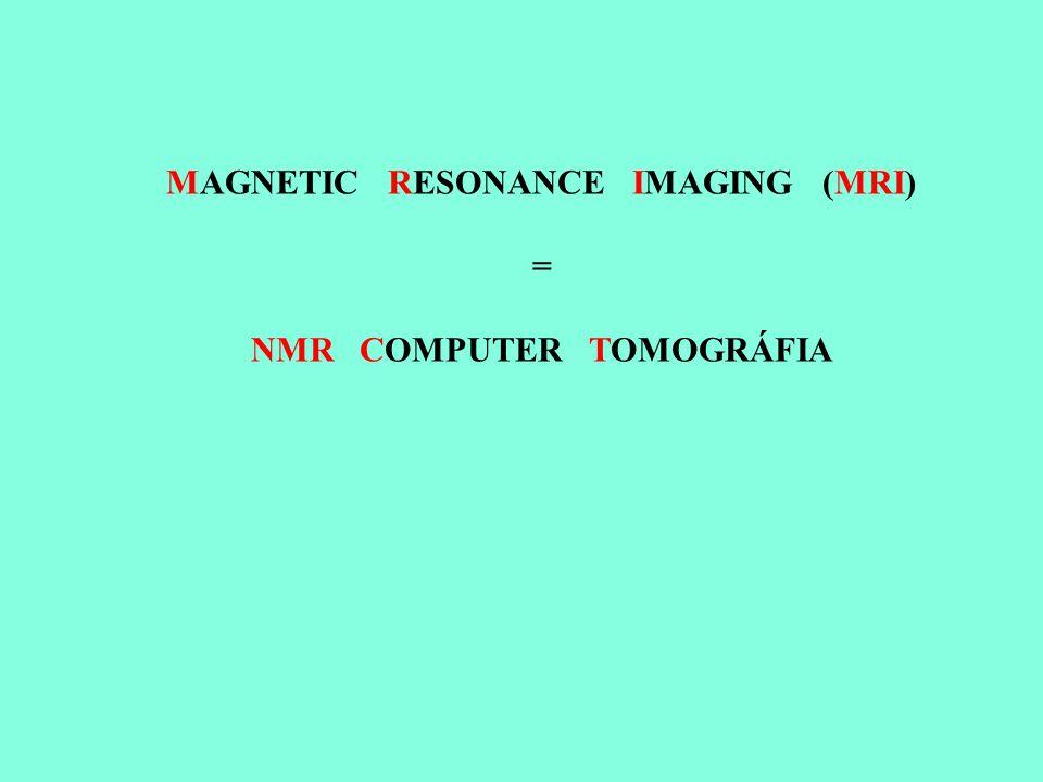 MAGNETIC RESONANCE IMAGING (MRI) = NMR COMPUTER TOMOGRÁFIA