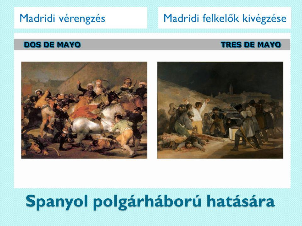 Spanyol polgárháború hatására Madridi felkelők kivégzéseMadridi vérengzés