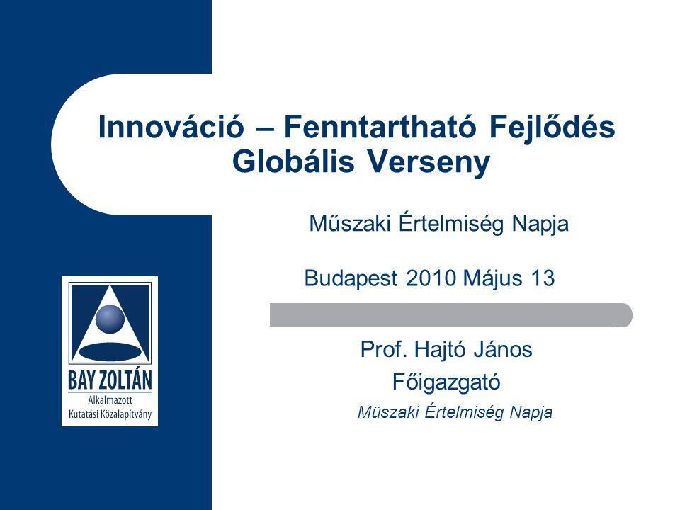 Innováció – Fenntartható Fejlődés Globális Verseny Prof.