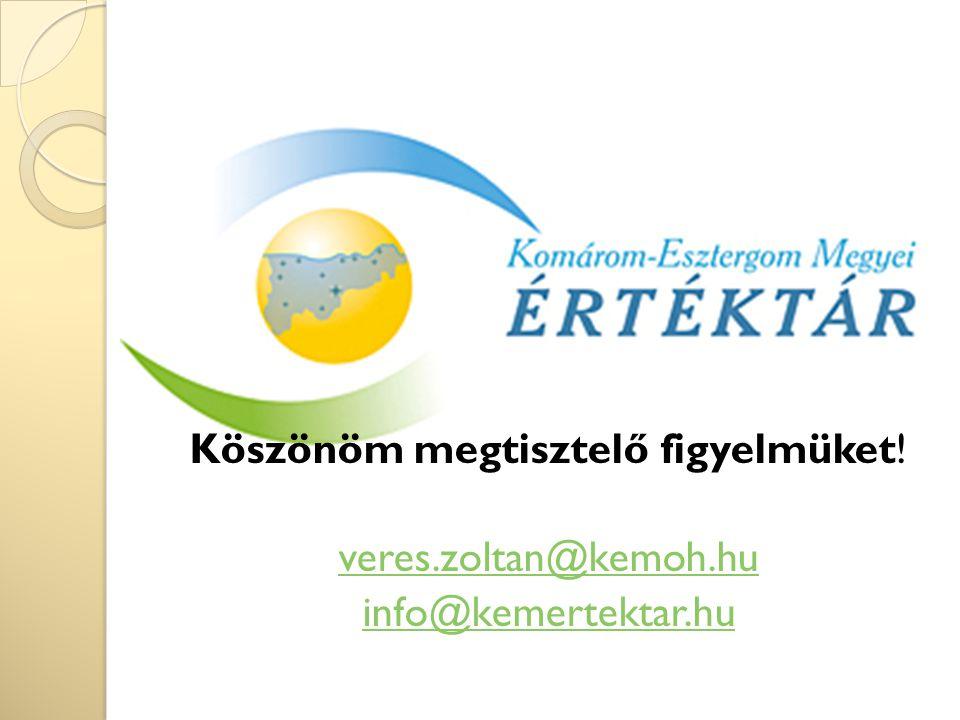 Köszönöm megtisztelő figyelmüket! veres.zoltan@kemoh.hu info@kemertektar.hu
