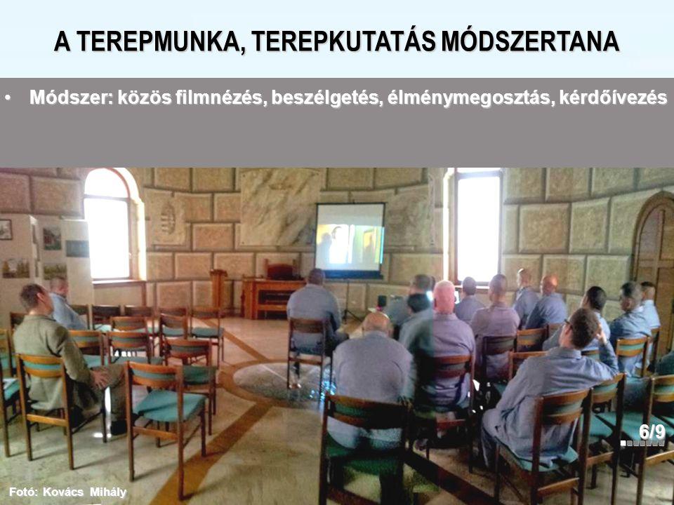 A TEREPMUNKA, TEREPKUTATÁS MÓDSZERTANA 6/9 Fotó: Kovács Mihály Módszer: közös filmnézés, beszélgetés, élménymegosztás, kérdőívezésMódszer: közös filmn