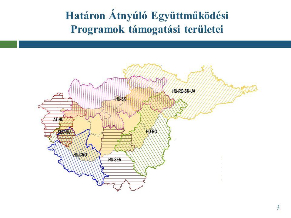 Határon Átnyúló Együttműködési Programok támogatási területei 3
