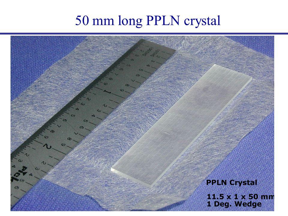 50 mm long PPLN crystal