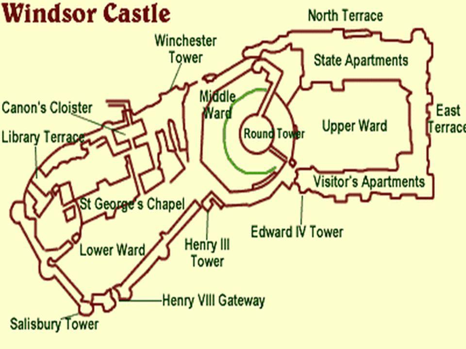 A Windsori Kastély A Windsori Kastély Anglia leghíresebb kastélya. A világ legnagyobb kiterjedésű, legrégebben lakott kastélya. Csaknem ezer éves kirá