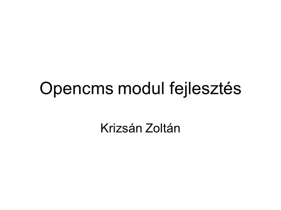 Opencms modul fejlesztés Krizsán Zoltán