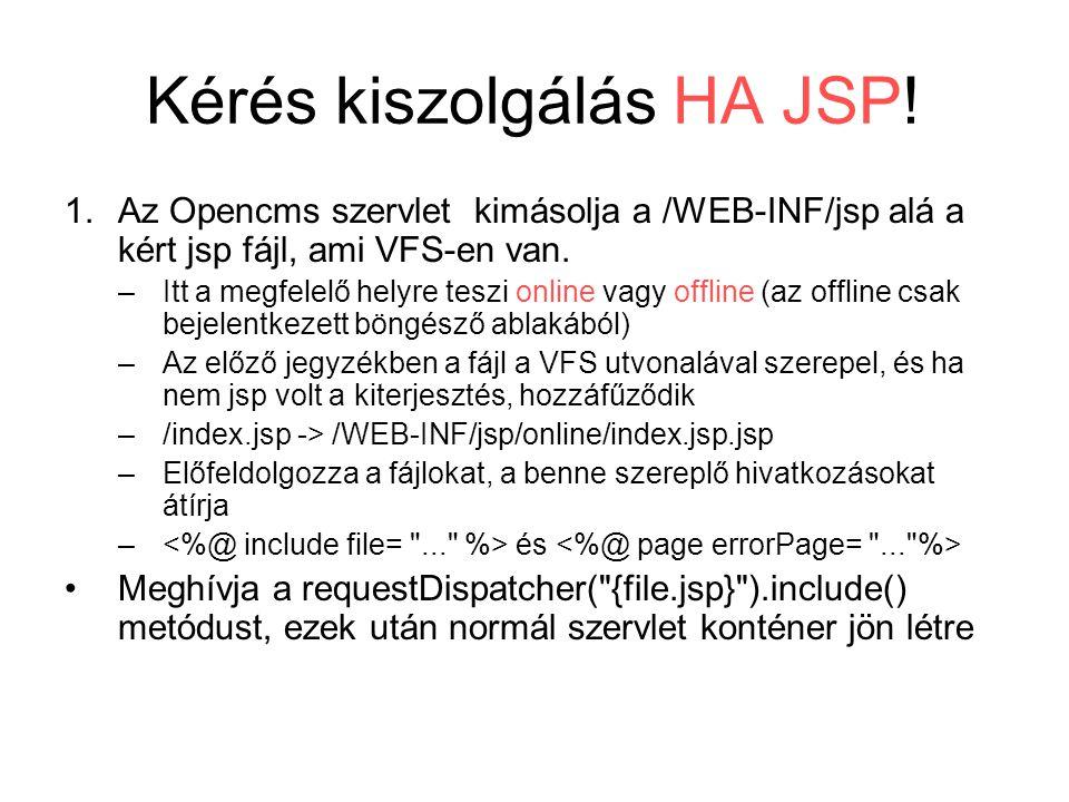 Kérés kiszolgálás HA JSP.