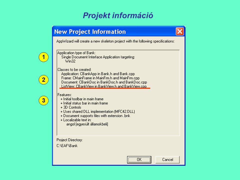 Projekt információ 1 2 3