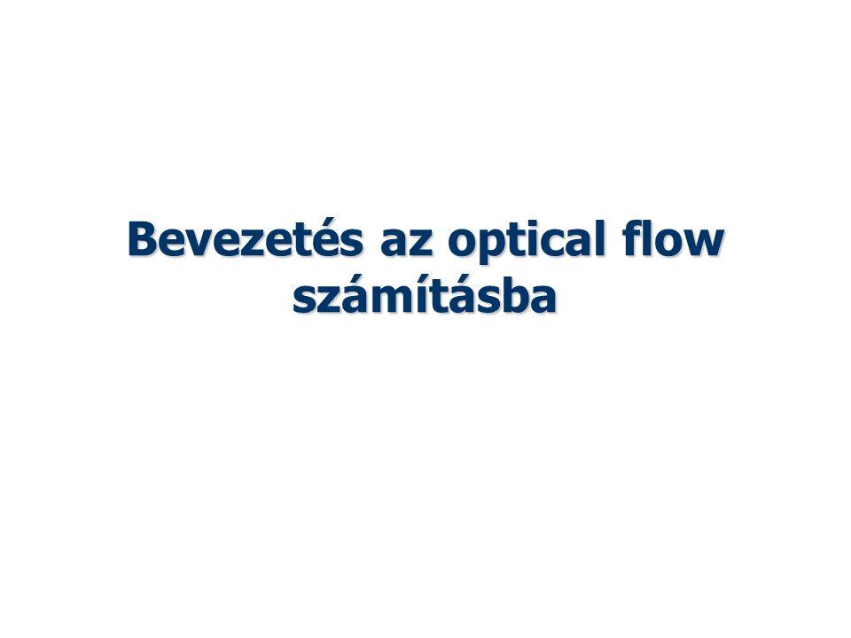 Bevezetés az optical flow számításba Vajta: Képfeldolgozás és megjelenítés 2014 tavasz