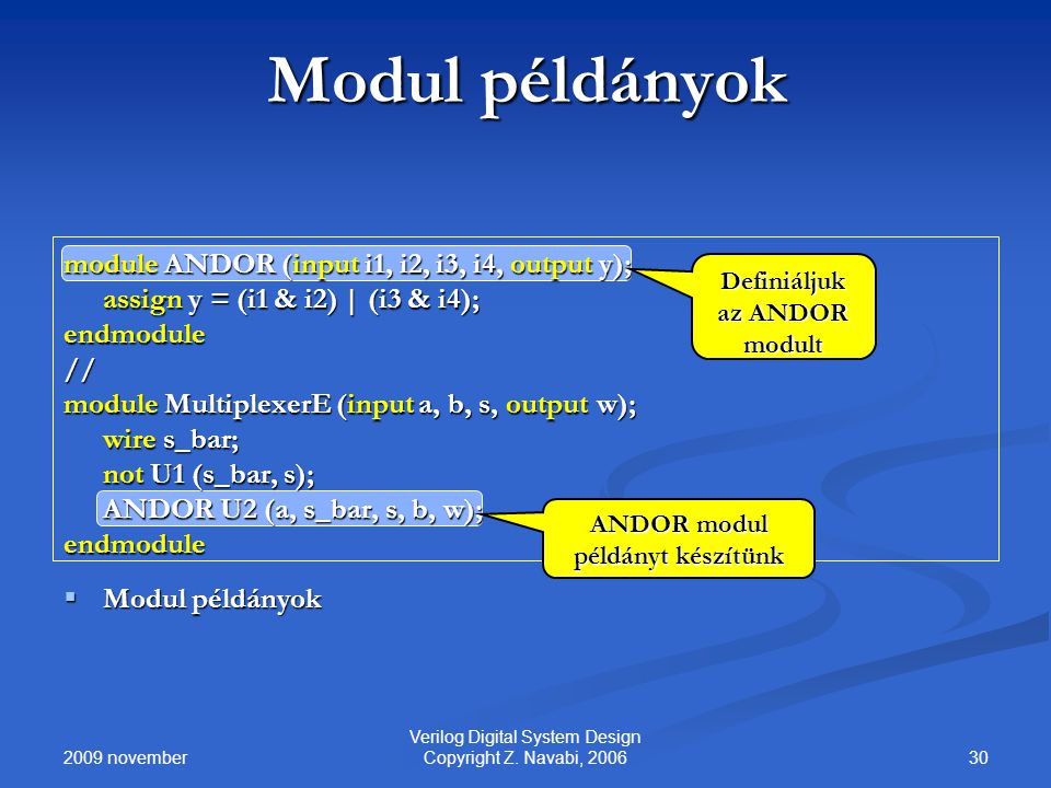 2009 november 30 Verilog Digital System Design Copyright Z.