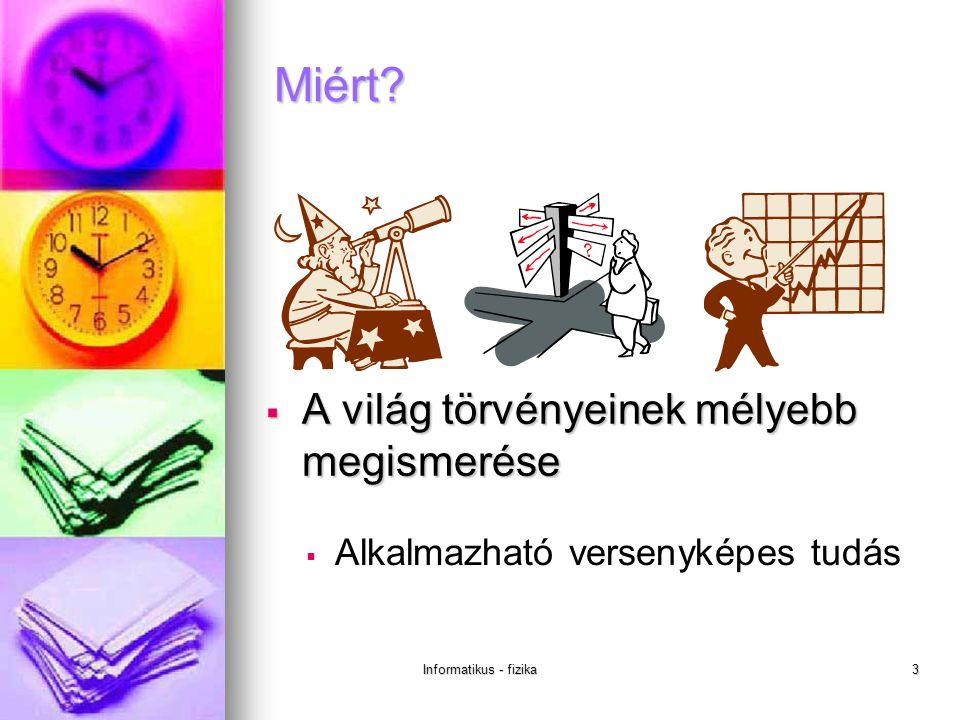 Informatikus - fizika3 Miért.