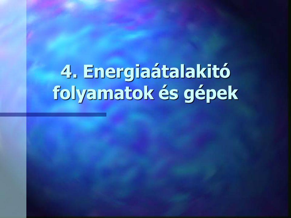 4. Energiaátalakitó folyamatok és gépek