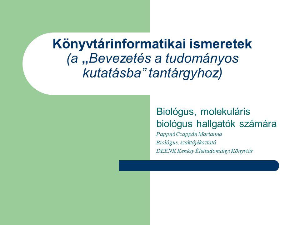 A könyvtár honlapja http://kenezy.lib.unideb.hu