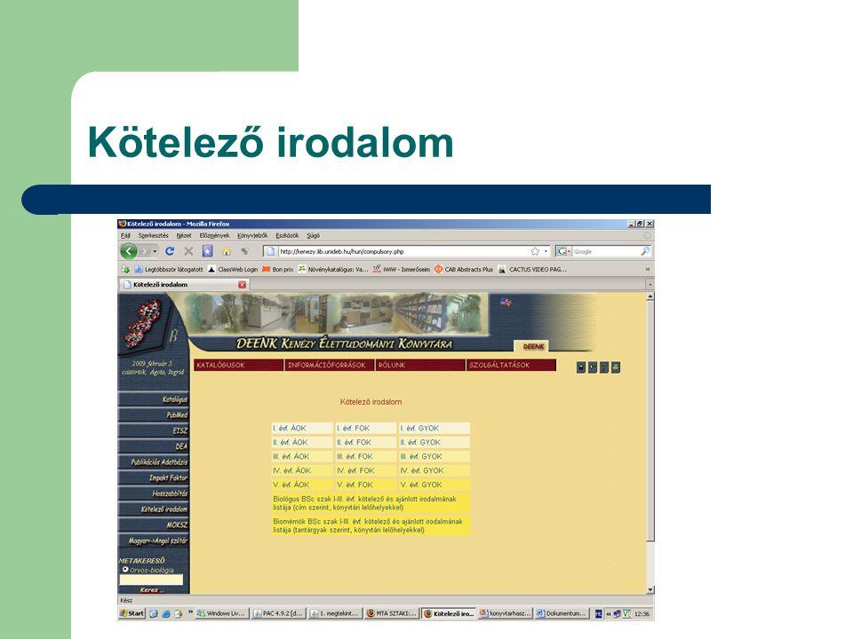 RefWorks alkalmazása bibliográfia készítéséhez