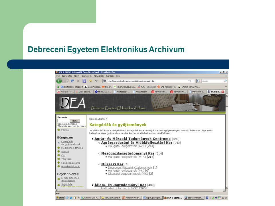 Kész bibliográfia (egy szerző műveiből, vagy egy témát felölelve állíthatunk össze listát, különböző adatbázisokból nyerve az adatokat)
