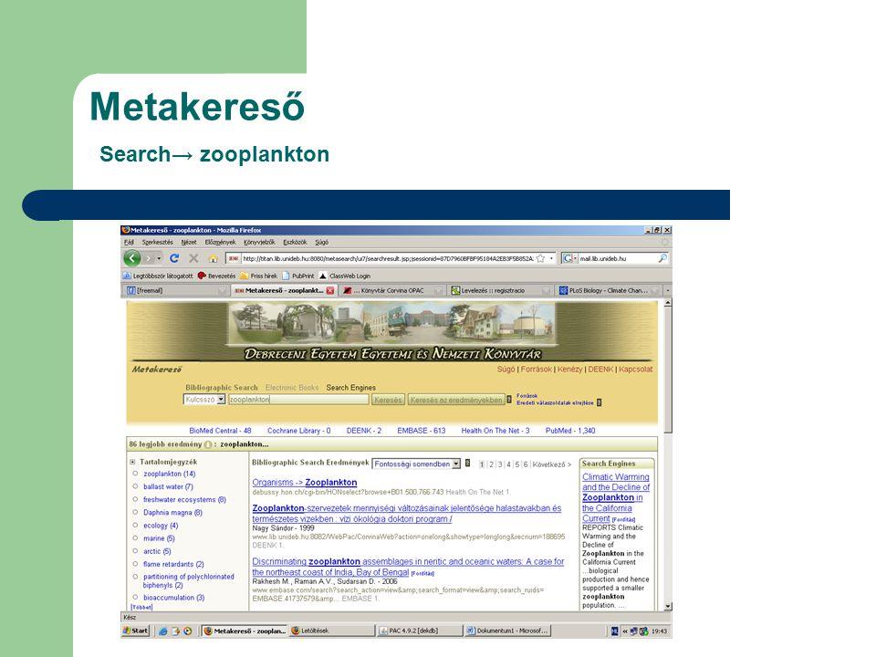 Fontosabb adatbázisok III. Sci Finder (Kenézy Élettudományi Könyvtár, II.