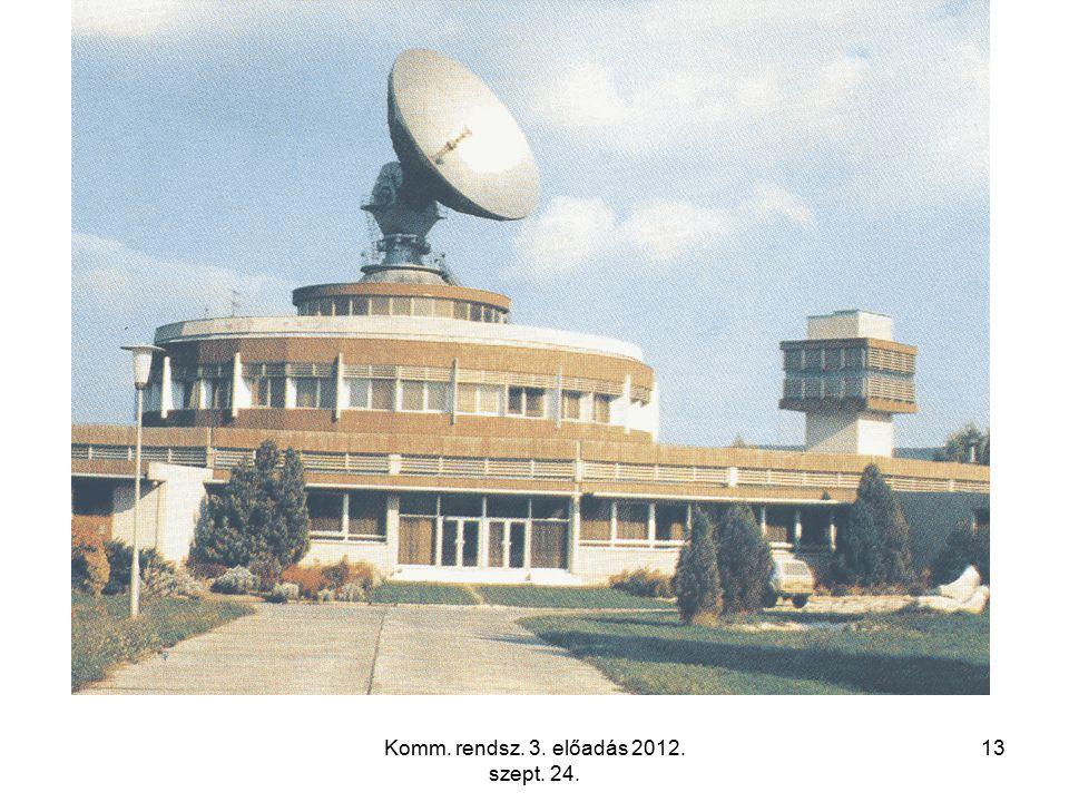 Komm. rendsz. 3. előadás 2012. szept. 24. 13