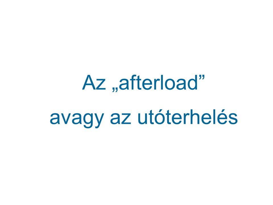 """Az """"afterload"""" avagy az utóterhelés"""