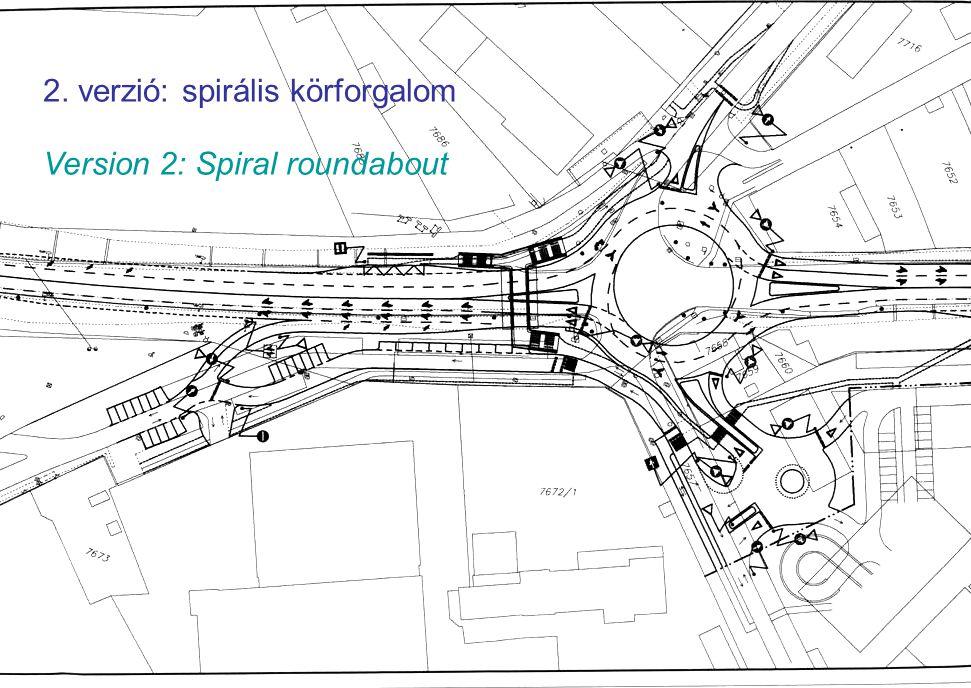 TIN week – Budapest, October/2006 16 2. verzió: spirális körforgalom Version 2: Spiral roundabout